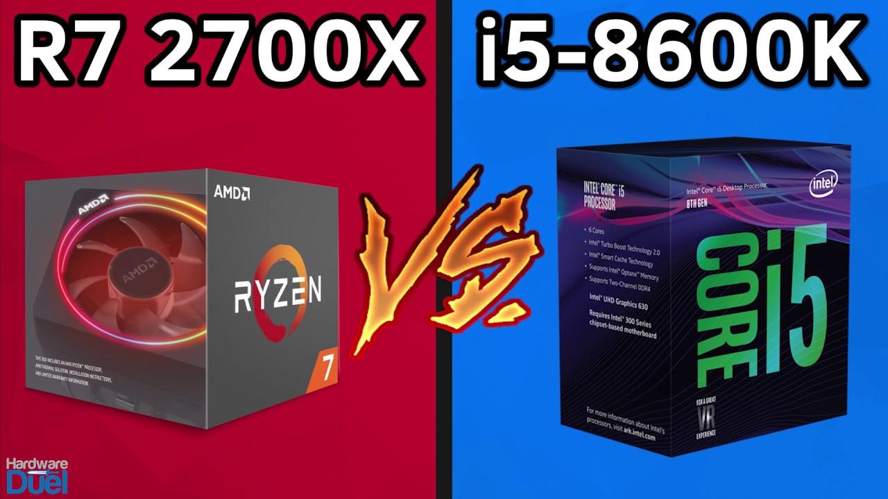 Ryzen 7 2700X vs Core i5 8600K - Full Performance Comparison