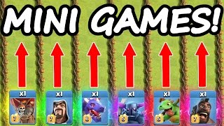 Clash Of Clans MINI OLYMPIC GAMES! 💥 ALL TROOP CHALLENGE!! 💥