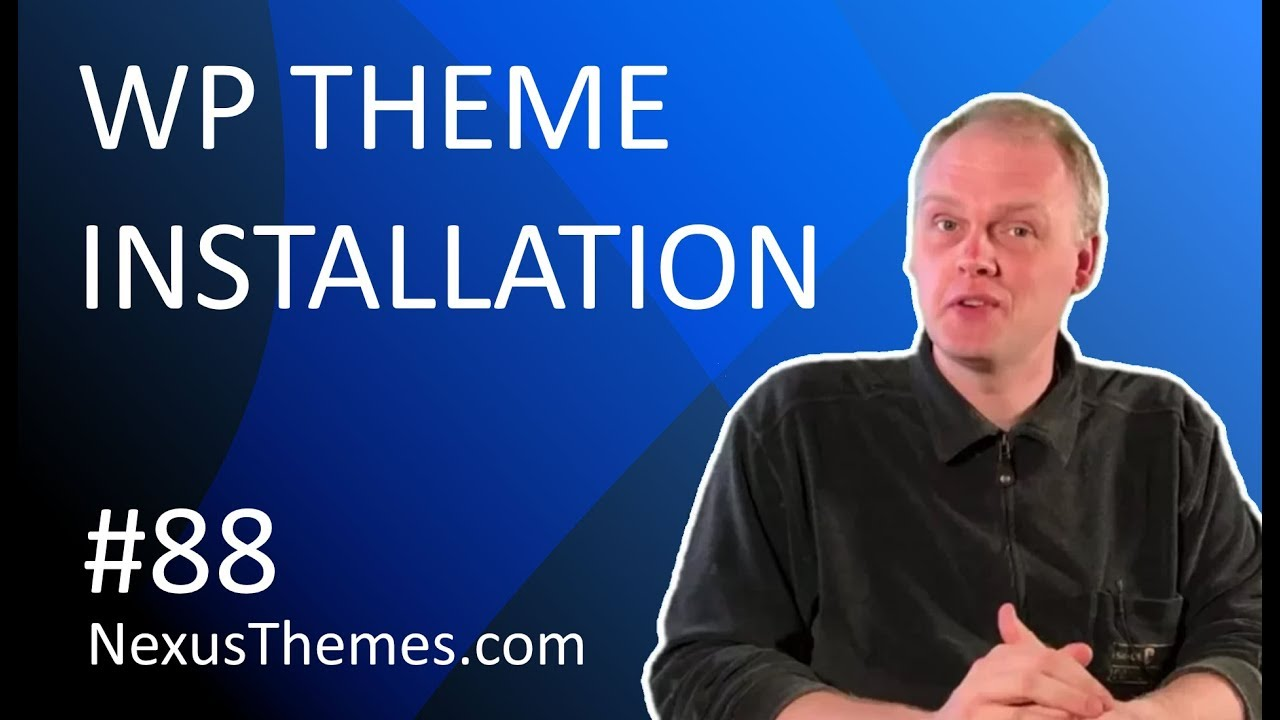 Step by step installation guide to install a WordPress theme - YouTube