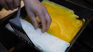 통인시장 명란계란말이 / egg rolled omelet with Pollock roe - korean street food