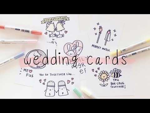 10 Cute Wedding Puns Cards Doodles By Sarah Youtube