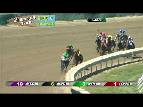 video thumbnail for MONMOUTH PARK 10-3-20 RACE 3