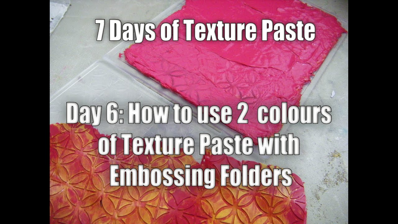 how to use embossing folders