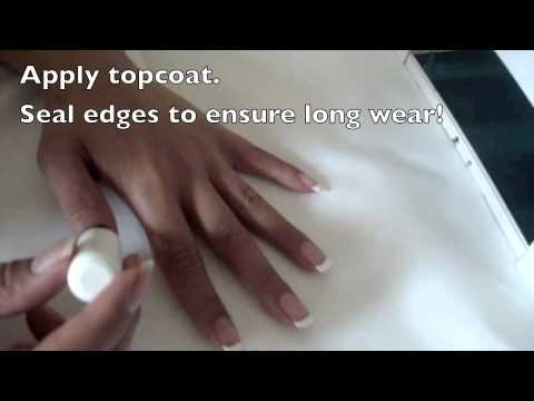 How to do ibd gel french manicure