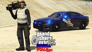 GTA 5 Mod KUFFS FiveM Police Roleplay #340 Camera Crew Follows Me Around To Film A Live Police Show