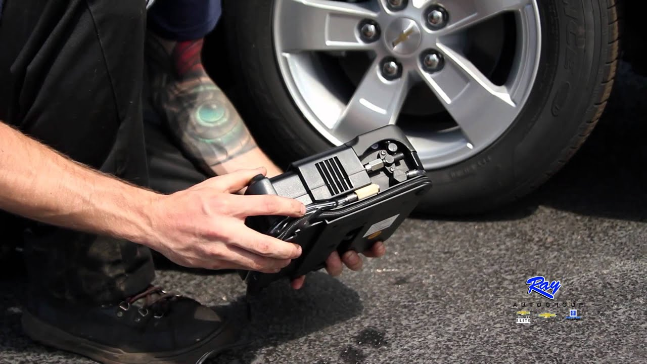 how to fix a flat tire inflator sealant kit youtube. Black Bedroom Furniture Sets. Home Design Ideas