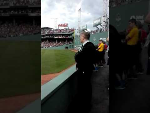Peter Palma sings Anthem at fenway park sun 5/28/2017
