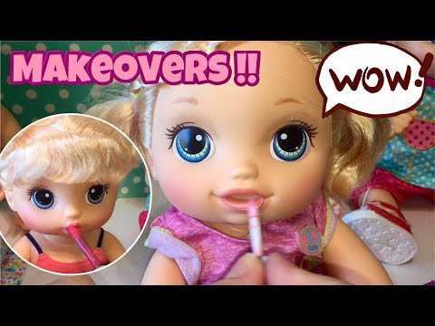BABY ALIVE Makeovers babies put on makeup so pretty ❤️