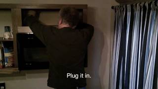 HOW TO INSTALL AN OVER RANGE MICROWAVE