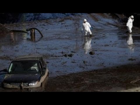 Mudslides caused by heavy rains hit California after wildfires