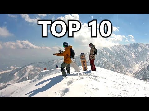 10 Epic Mountain Views in Snowboarding