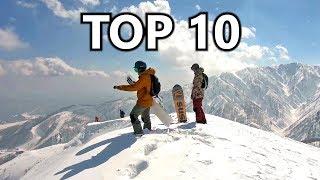 10 Epic Mountain Views in Snowboarding