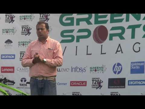 Greens Sports Village Corporate T20 Cricket Tournament-Presentation