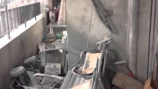سقوط قذيفة هاون في ال٠  زة Video