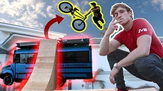 JUMPING THE COOL BUS ON A BMX BIKE! **dangerous**
