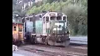 """Boeing Train Shuffle"" - BNSF Mukilteo Train action 2006"