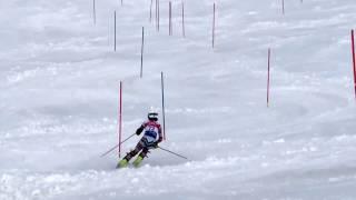 Topp-5 andra åket slalom i Lilla VC finalen 2017 i Sundsvall för H-13 för Norrland