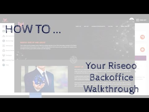 🎓 🇺🇸 How To Tutorial: Guided Tour Through Your Riseoo Back Office