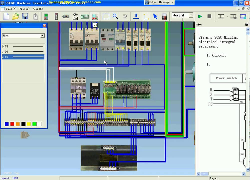 swansoft electric simulation siemens cnc machine connection debug rh youtube com Residential Telephone Wiring Diagram Residential Wiring Schematics