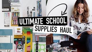 SCHOOL SUPPLY HAUL for BACK-TO-SCHOOL 2019 | best stationery for university + college