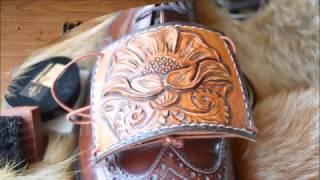 Уроки работы с кожей. Делаем автопятку с цветочной резьбой www.muzylevstyle.ru