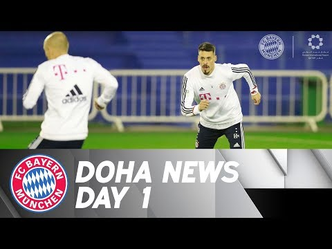 First FC Bayern Training in Doha - with Sandro Wagner!
