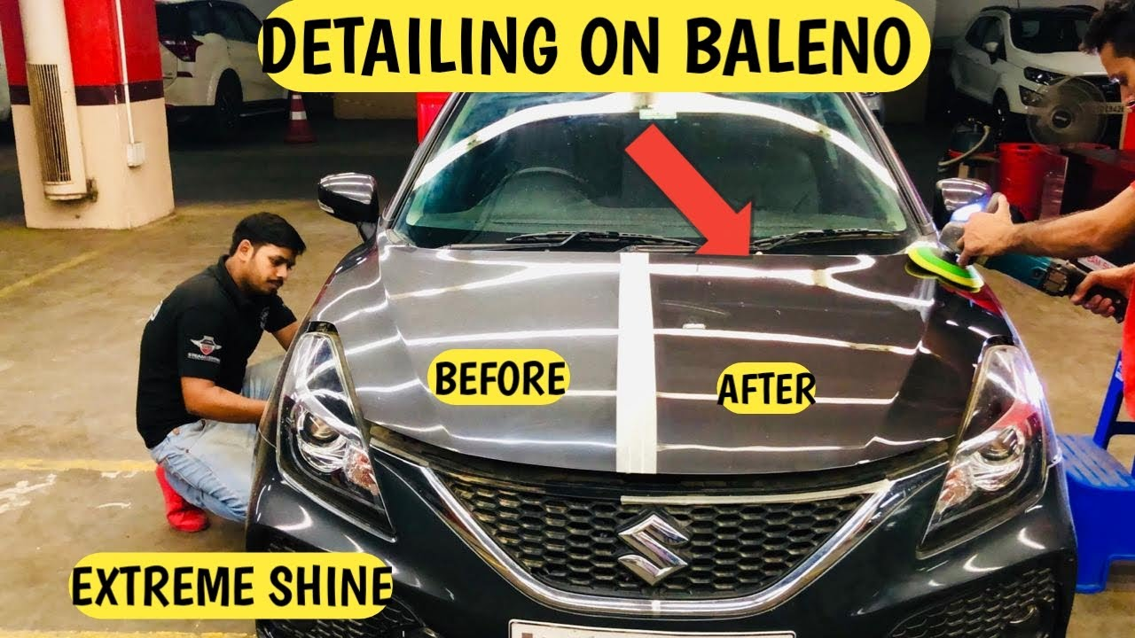 Detailing Done On My Car Baleno Before Vs After Detailing Ceramic Coating Vs Detailing Youtube
