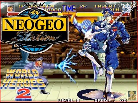 World Heroes 2 Lev 8 Brocken No Lose Playthrough