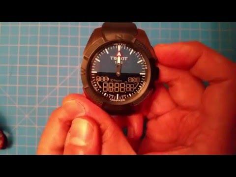 Tissot T-Touch Expert Solar - service mode with hidden temperature/compass calibration