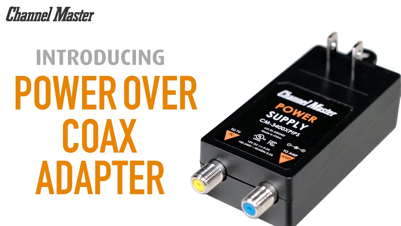 Introducing the Power Over Coax Adapter for TV Antenna Amplifiers CM-3400PIPS