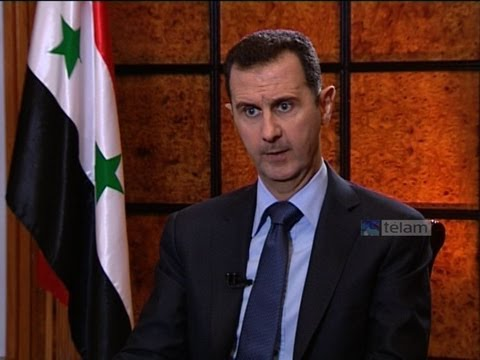 """Al-Assad a Telam: """"No descarto una guerra de occidente contra Siria"""""""