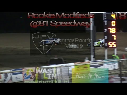 Rookie Modifieds #54, B Main & Feature, 81 Speedway, 09/22/18