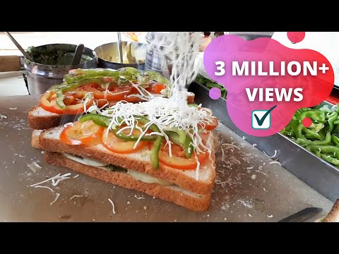 ❤ CHEESE - Grilled Sandwich - DOUBLE DECKER ❤ | Indian Street Food Mumbai - Asian Food