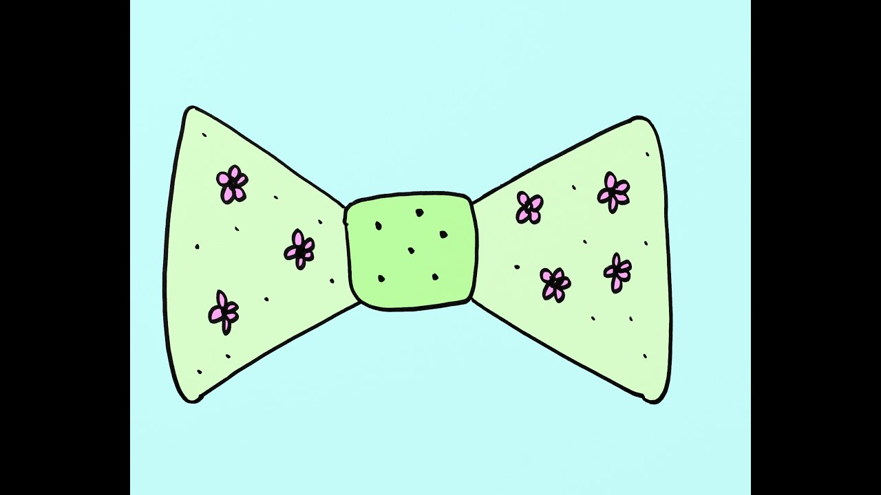 How to draw a cartoon bow tie art project for kids youtube voltagebd Choice Image