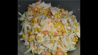 167 Салат из капусты моркови кукурузы с майонезом Быстро вкусно просто