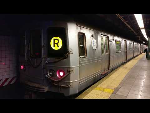 Bay Ridge Bound R46 (R) Express Train Departing Pacific Street (Back)
