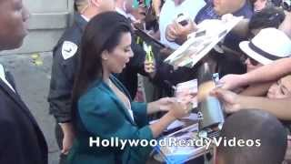 Kim Kardashian West shows love to her fans leaving her Jimmy Kimmel Live appearance in Hollywood