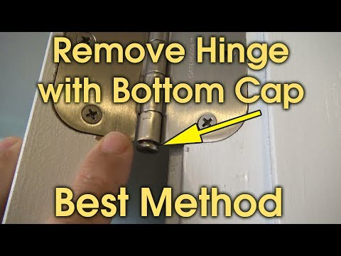 Remove Door Hinge Pin with Bottom Cap
