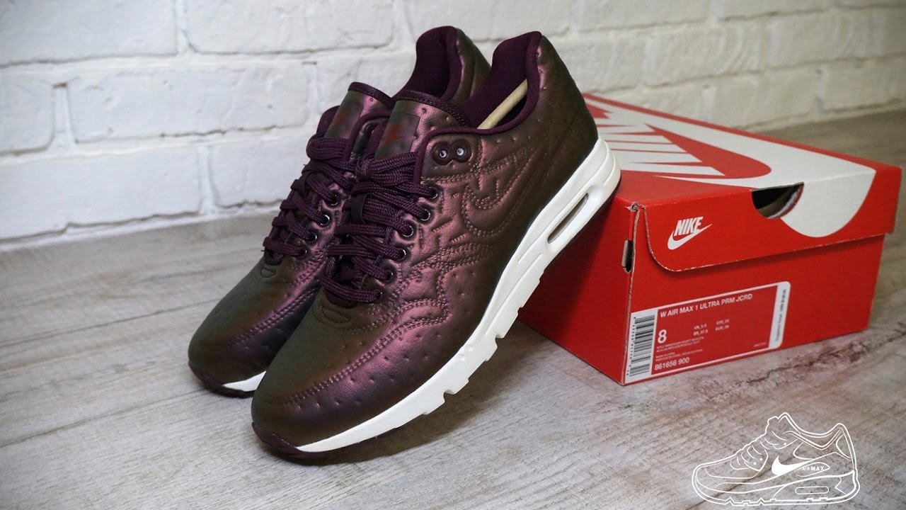 100% authentic 76b0a 93ae9 Nike Air Max 1 Ultra Premium PRM Jacquard JCRD Metallic Mahogany
