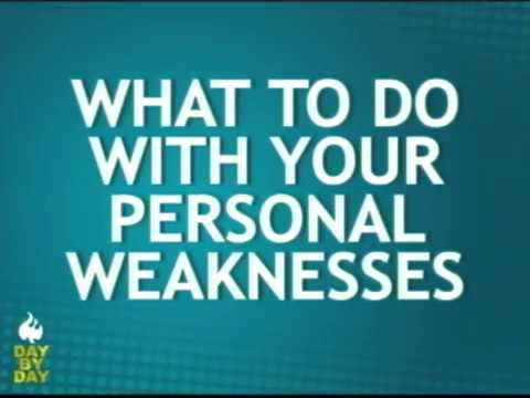 Ed Lapiz - WHAT TO DO WITH YOUR PERSONAL WEAKNESSES - YouTube