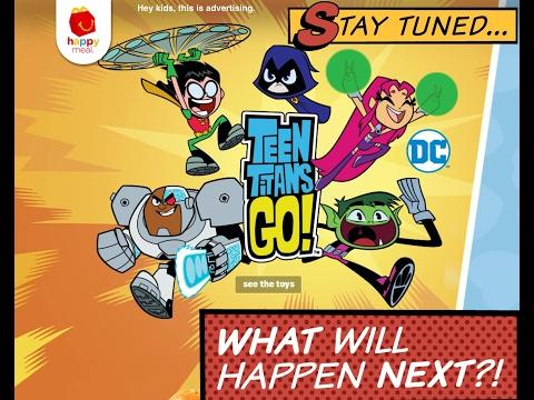 Teen Titans Go McDonald's Happy Meal Toys January 2017! All 6 Toys
