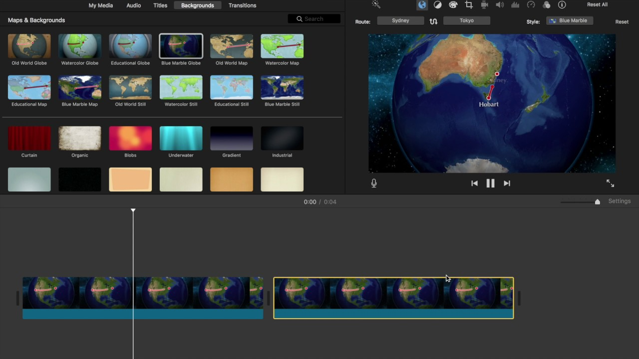 Moving Map in iMovie on a Mac on firefox animation, after effects animation, time machine animation, acrobat animation,