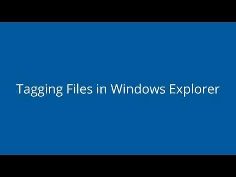 Tagging files in Windows Explorer