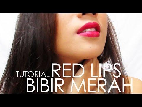tutorial-||-red-lips-||-bibir-merah
