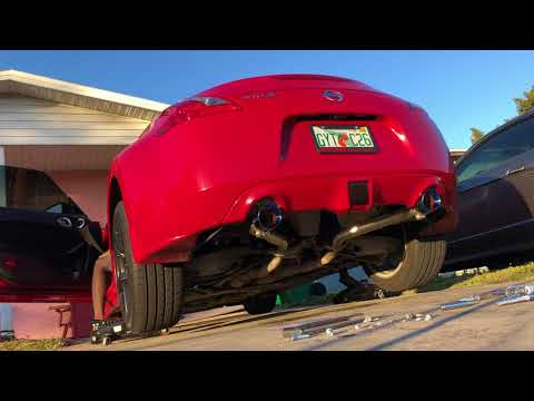 370z Z1 NON RESONATED TEST PIPES & AAM NON RESONATED SHORT TAILS | Dragon's Roar
