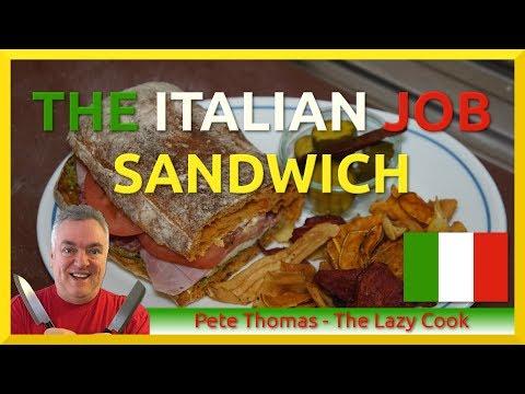 The Italian Job Sandwich - Ham, Salami and Mozzarella with Pesto