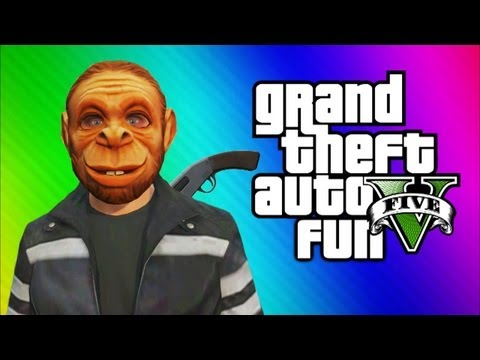 Thumbnail: GTA 5 Online Funny Moments Gameplay - Invisible Glitch, Monkey Masks, Jet Fun, Cars (Multiplayer)