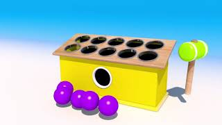 Learn Colors with Wooden Hammer Jelly 3D Color Balls Wooden ...