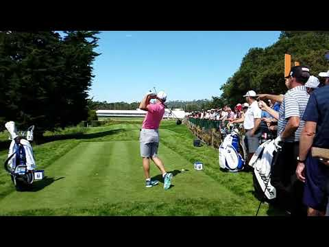 Sergio Garcia Slow Motion Golf  Swing At The US Open Pebble Beach Third Hole