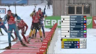 Biathlon Massenstart der Männer in Ruhpolding 2013